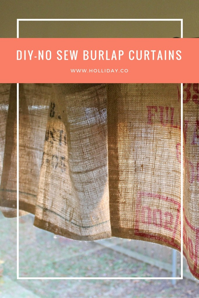 Diy No Sew Burlap Curtains The Holliday Collective