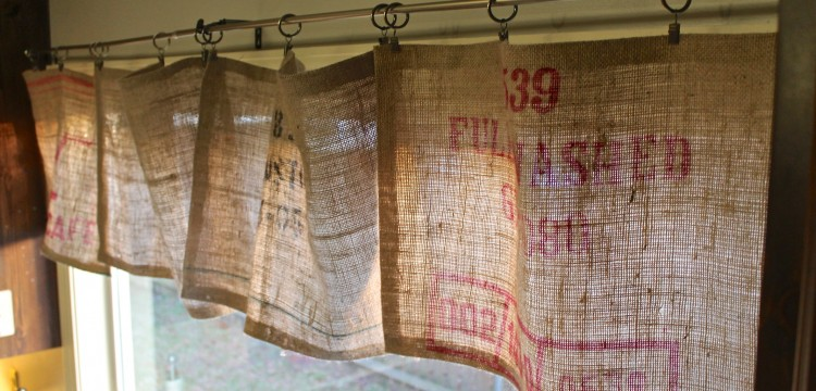 DIY - No Sew Burlap Curtains - The Holliday Collective