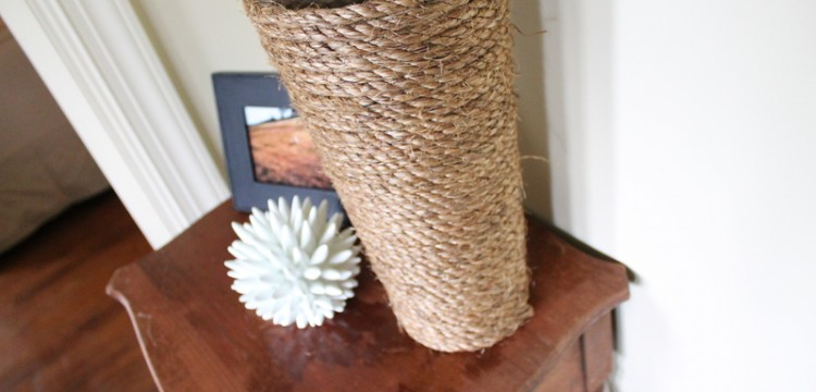diy, rope vase, diy rope vase, home project