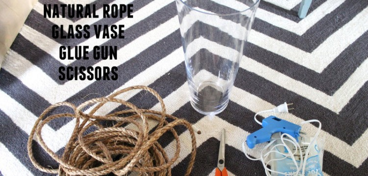 diy rope vase, rope vase, diy project, diy, home project