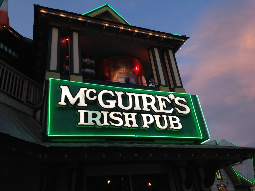 mcguires irish pub, place to eat in destin, the hollidays at home