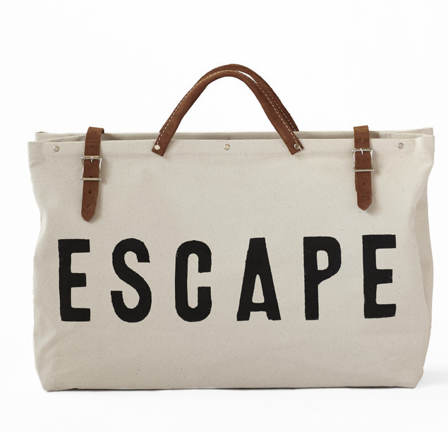 weekend bag, weekender bag, canvas bag, why every woman needs a weekend bag, escape bag,