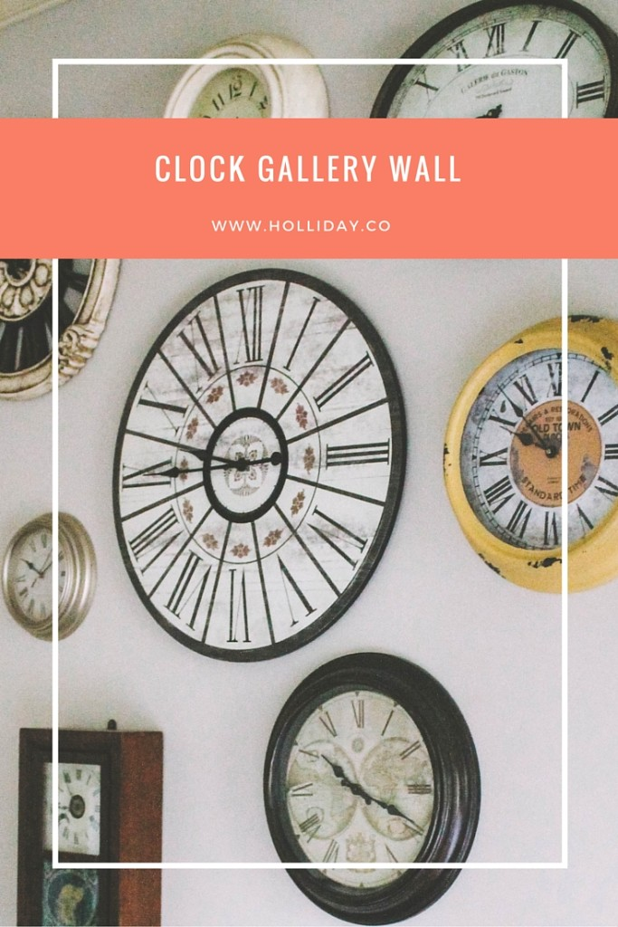 clock gallery wall