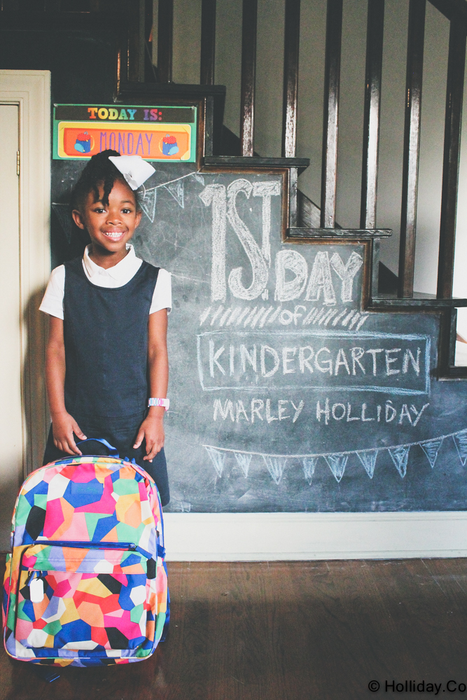 marley first day of kindergarten
