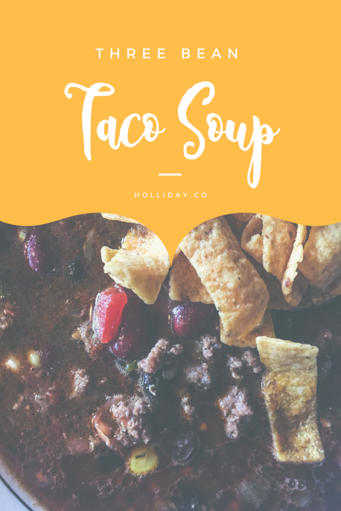 taco soup, three bean taco soup, meal plan, meal planning, taco soup recipe