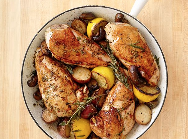 skillet rosemary chicken, chicken recipe, meal planning