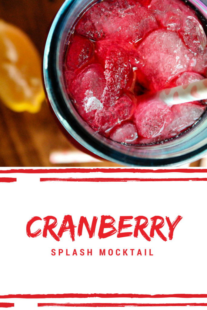cranberry splash, mocktail, cranberry mocktail