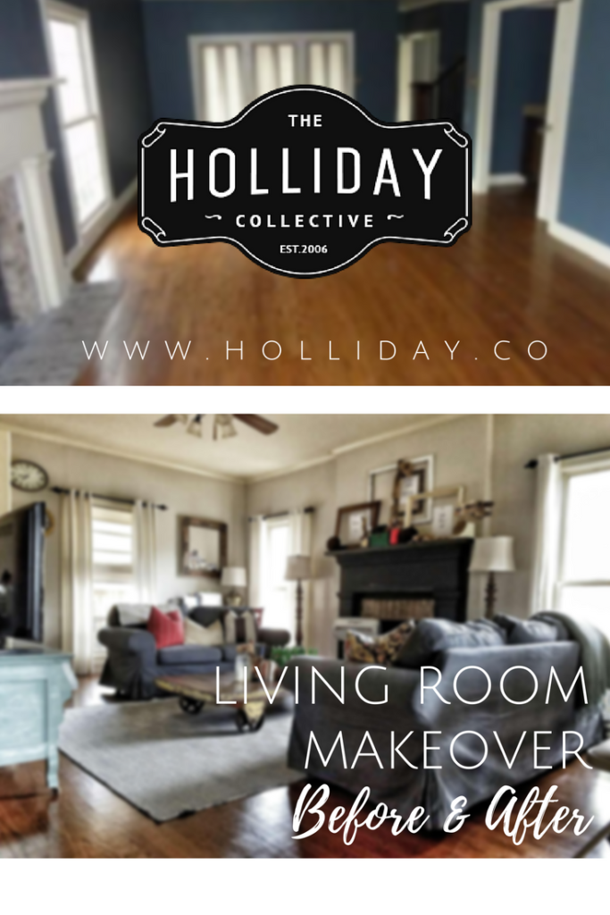 living room makeover graphic