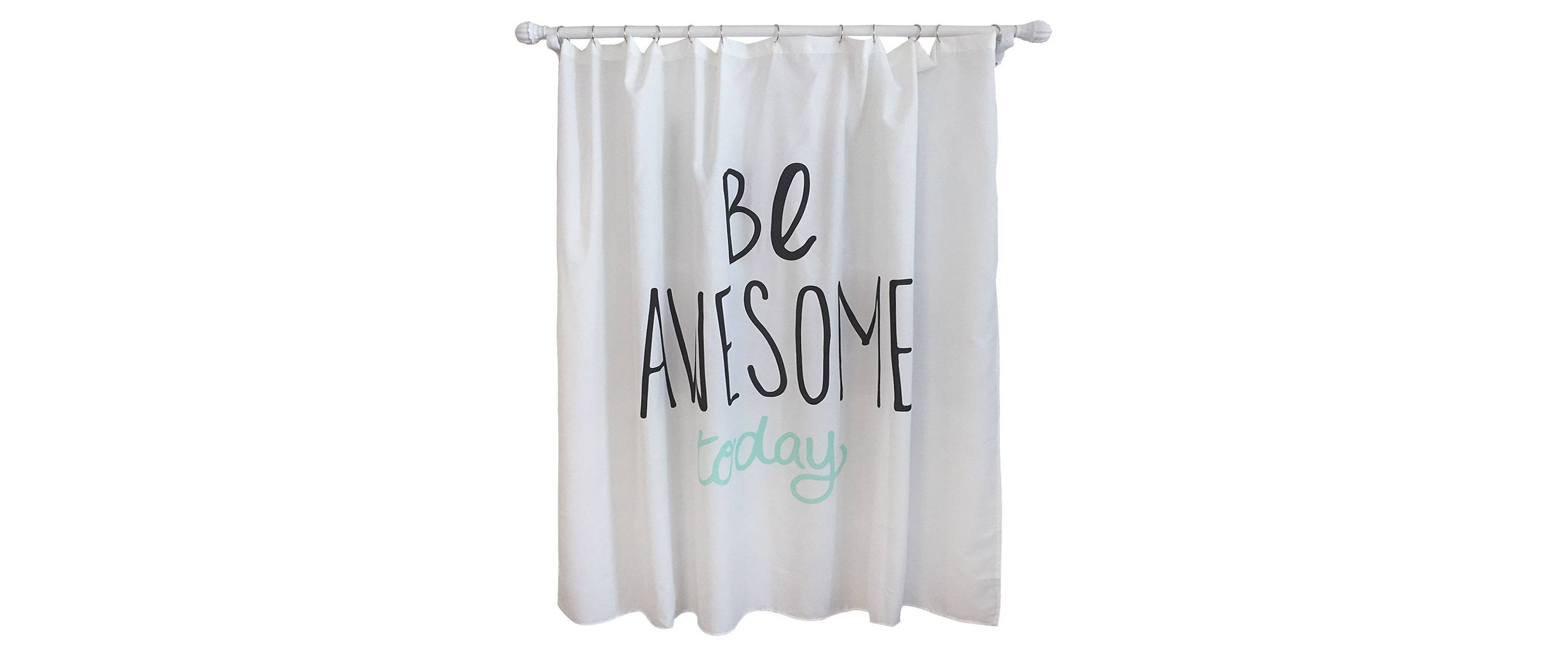 turquoise and black shower curtain. Be Awesome Today Shower Curtain Our New  10 Curtains You Might Like The