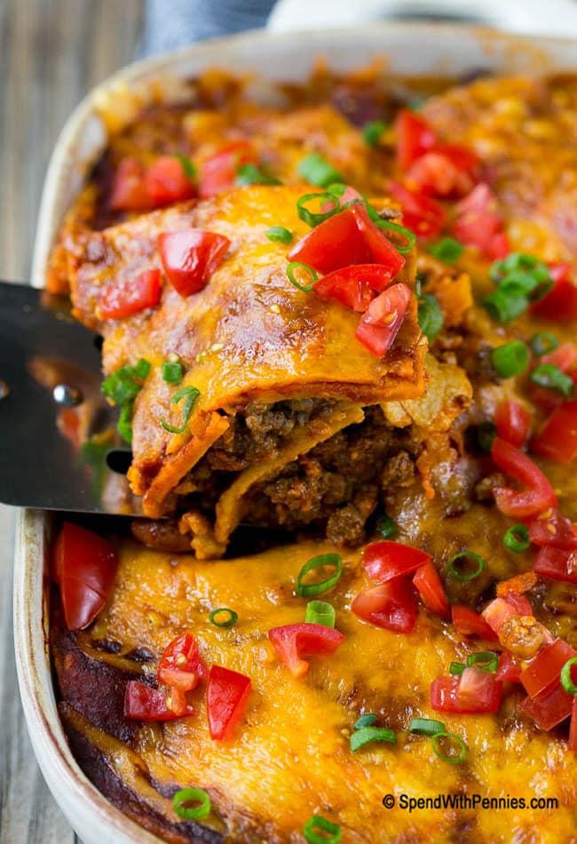 Enchilada Casserole with Ground Beef