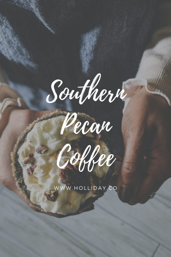 southern pecan coffee, caramel pecan coffee, coffee recipe,